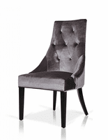 Charlotte - Grey Velour Dining Chair (Set of 2)