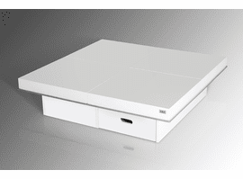 A&X Horizon - Modern White Gloss Coffee Table with Pull Out Squares - AK856-120