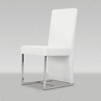 Misha - Modern White Leatherette Dining Chair (Set of 2)