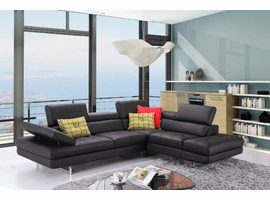 A761 Italian Leather Sectional in 10 Colors