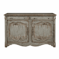 Accentrics D153-044 Farmhouse Two Door Accent Wine Cabinet
