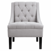 Accentrics DS-2510-900-1 Tufted Accent Arm Chair - Dove