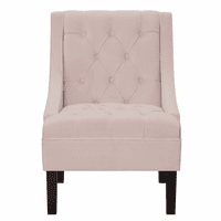 Accentrics DS-2510-900-2 Diamond Tufted Arm Chair - Blush