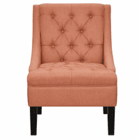 Accentrics DS-2510-900-478 Button Tufted Chair - Salmon