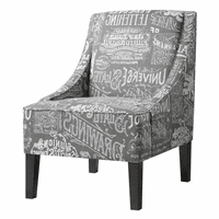 Accentrics DS-2516-900-396 Uph Arm Chair Chalkboard Shadow