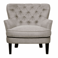 Accentrics DS-2522-900-479 Tufted Wing Back Chair - Storm