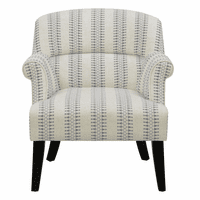 Accentrics DS-2524-900-976 Roll Arm Accent Chair - Cream/Blue