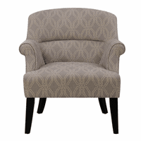 Accentrics DS-2524-900-977 Roll Arm Accent Chair - Grey