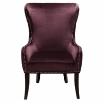 Accentrics DS-2527-900-488 Wing Back Accent Chair Luxor Raisin