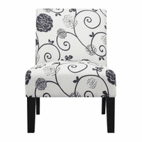 Accentrics DS-2661-270-410 Dining Chair Swirl Floral
