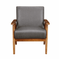Accentrics DS-D030003-329 Wood Frame Accent Chair in Steel