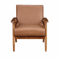 Accentrics DS-D030003-460 Wood Frame Accent Chair in Brown