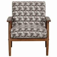 Accentrics DS-D030003-486 Wood Frame Accent Chair Prism Flannel