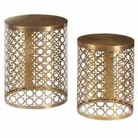 Accentrics DS-D051025 Perforated Metal Accent Tbls/Set of 2