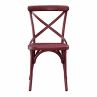 Accentrics DS-D069 Red Metal Dining Chair (2/ctn)