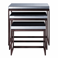 Accentrics DS-D114001-3 Smoke Mirrored Metal Nesting Tables
