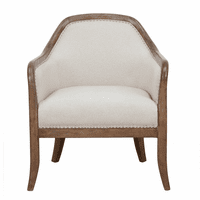 Accentrics DS-D153-701-545 Wood Frame Accent Arm Chair - Beige