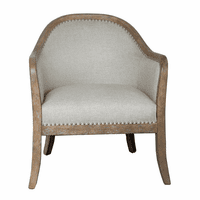 Accentrics DS-D153-701-974 Wood Frame Accent Chair - Two Tone