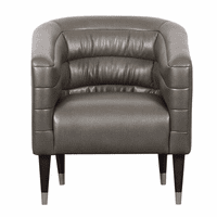 Accentrics DS-D153-710-570 Channeled PU Club Chair - Grey