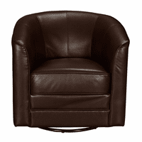 Accentrics DS-D153-741-615 Swivel Accent Club Chair - Brown