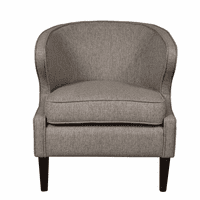 Accentrics DS-D153-744-616 Shelter Back Accent Chair - Grey
