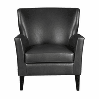 Accentrics DS-D153-745-058 PU Accent Arm Chair - Charcoal
