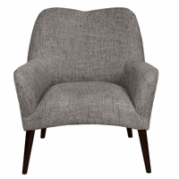 Accentrics DS-D153-749-618 Modern Accent Arm Chair - Grey