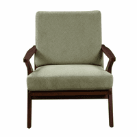 Accentrics DS-D153-757-578 Wood Frame Accent Arm Chair - Sage