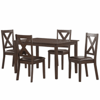 Accentrics DS-D186-130 5pc Dining Table Set
