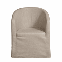 Accentrics DS-D192-140-538 Slipcover Barrel Back Chair w/ Castors