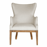 Accentrics DS-D192-700 Curved Back Arm Chair - Linen