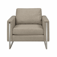 Accentrics DS-D198-701-967 Nickel Frame Accent Chair - Linen