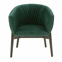 Accentrics DS-D198-703-965 Channel Back Club Chair - Emerald