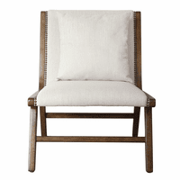 Accentrics DS-D230-701-1 Wood Frame Lounge Chair - Linen
