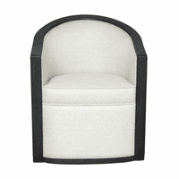Accentrics DS-D233-702-1 Wood Frame Accent Chair Linen