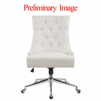 Accentrics DS-D274-702-1 Beige Button Tufted Home Office Chair