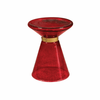 Accentrics P050480 Red Glass side Table
