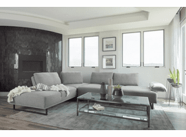 Arden Sectional Sofa 508888 in Taupe Fabric