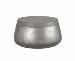 Aries Coffee Table - Concrete - Silver