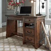 ASHLEY ADJUSTABLE DESK WITH 2 electrical outlets and USB charging stations