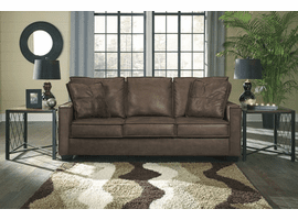 ASHLEY BROWN LEATHER SOFA 9290338