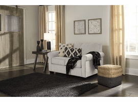 ASHLEY MEMORY FOAM SLEEPER TWIN LOVE SEAT 7380737 IN PEBBLE COLOR