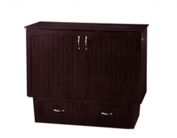 Atlantic Nantucket Murphy Queen Espresso Cabinet Bed