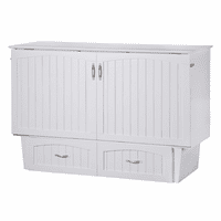 Atlantic Nantucket Murphy Queen White Cabinet Bed