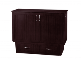 Atlantic Nantucket Murphy Twin Espresso Cabinet Bed