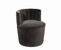 August Chair - Antique Brass - Shadow Grey Fabric