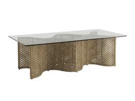 Aviano TH-3220-947GT-TB Tempered Glass Top & Rectangular Cocktail Table Base Frame only
