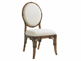 Bali Hai TH-593-880-01 Gulfstream Oval Back Side Chair - Ships Assembled