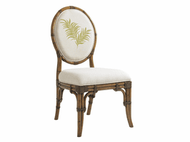 Bali Hai TH-593-880-02 Gulfstream Oval Back Side Chair - Ships Assembled