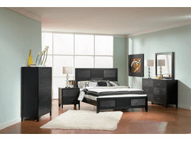 Black Queen Bedroom Grove Panel Bedroom Set - 20165